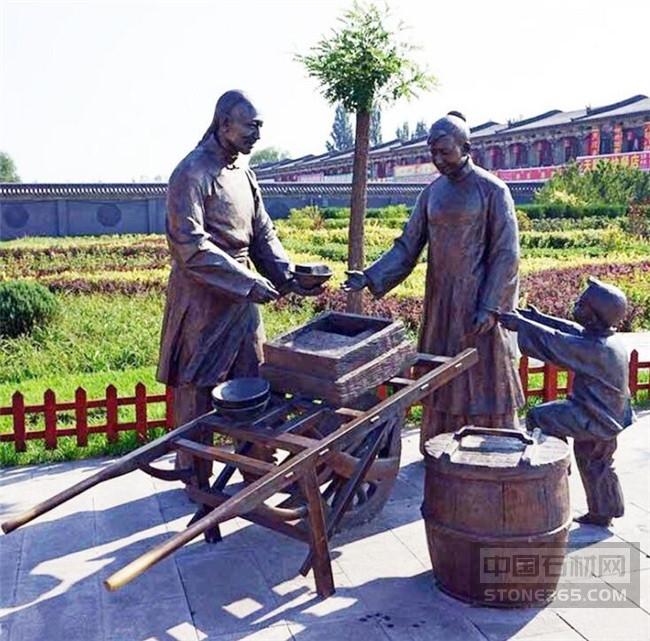 厂家定制铸铜仿古人物雕塑公园