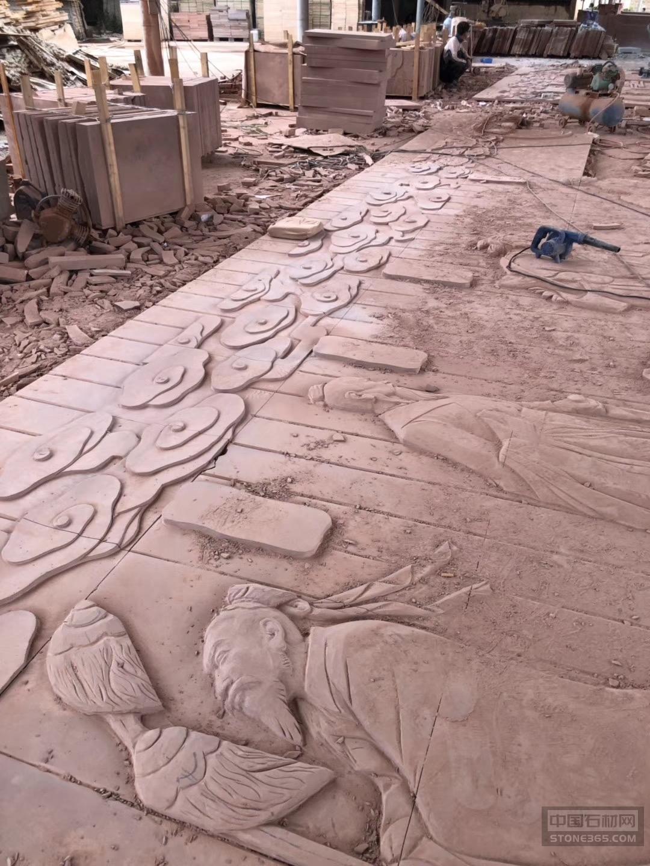 云南红砂岩雕刻