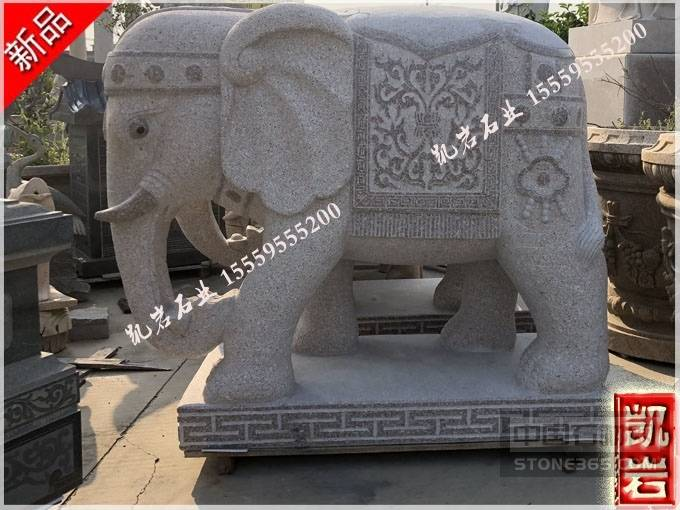 招财石雕大象厂家