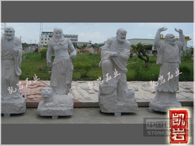 专业供应十八罗汉石雕