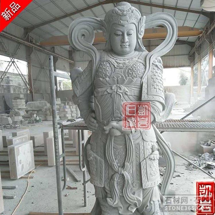 廠家直銷大型石雕韋陀菩薩
