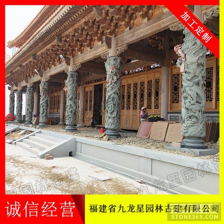 免费在线观看的黄片石雕龙柱 寺庙门口青石龙柱