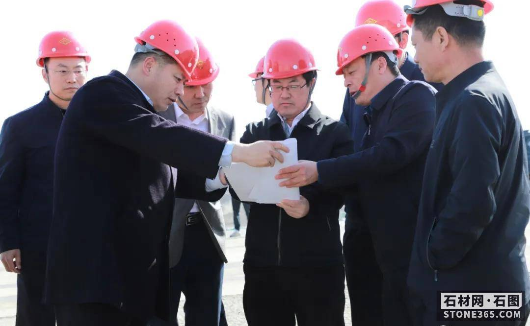 五莲县委书记马维强石材产业园(街头镇)现场督导安全出产危险整改作业