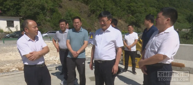 广东省佛山市领导到高超查看非煤矿山安全出产和防汛防风等作业