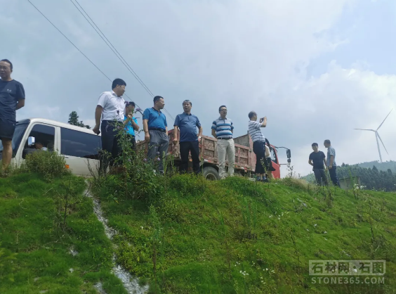 湖南省邵东市人民政府调查团来隆调查小沙江石材厂管理作业