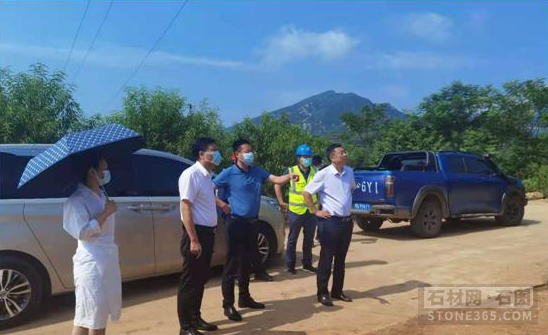 驻马店市自然资源和规划局驿城分局对朱古洞乡矿山生态修正状况进行调研