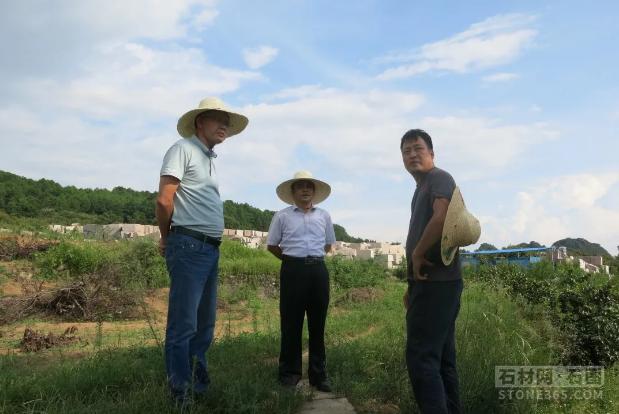 广西桂林市平乐县领导到同安镇石材产业园展开造访调研