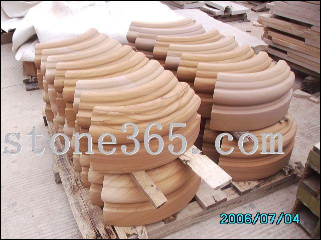 砂岩圆柱弧形柱脚
