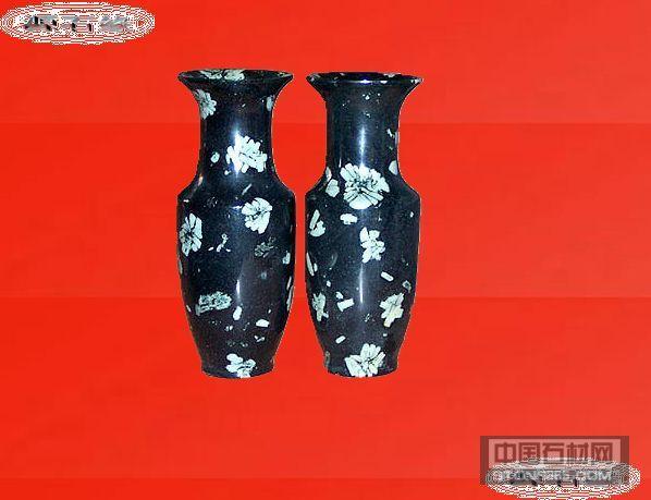 牡丹石 工艺品 石雕 花瓶