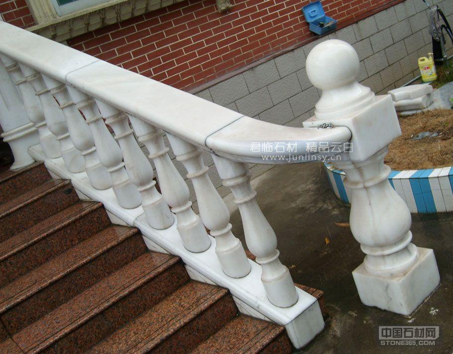 汉白玉护栏阳台栏杆.欧式别墅石栏杆.踏步楼梯石材扶栏