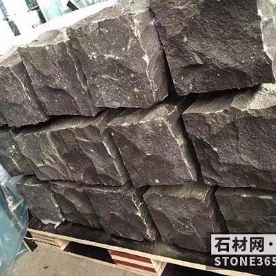 蒙古黑自然面石材