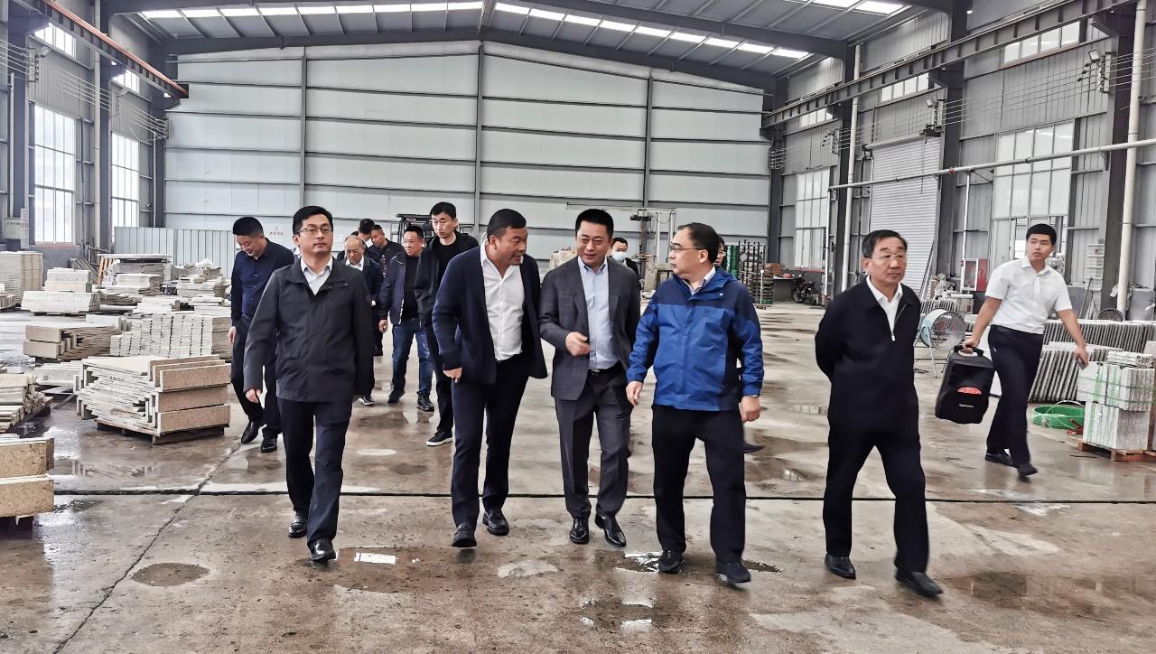 考察几大知名花岗岩产区,把中部(麻城)石材产业园建成中国临矿产业集群标杆园区达成共识