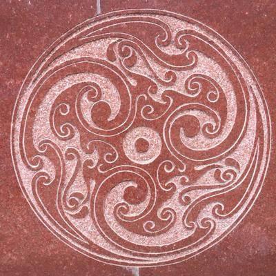 中国红雕刻