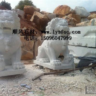 汉白玉狮雕刻