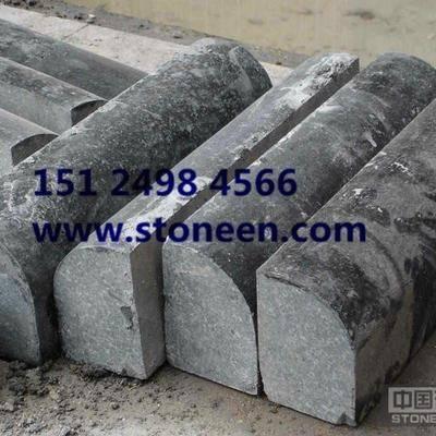 供应蒙古黑石材路沿石