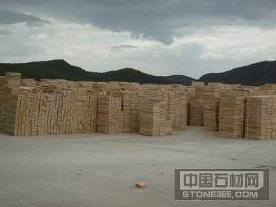 山西砂岩板材堆场