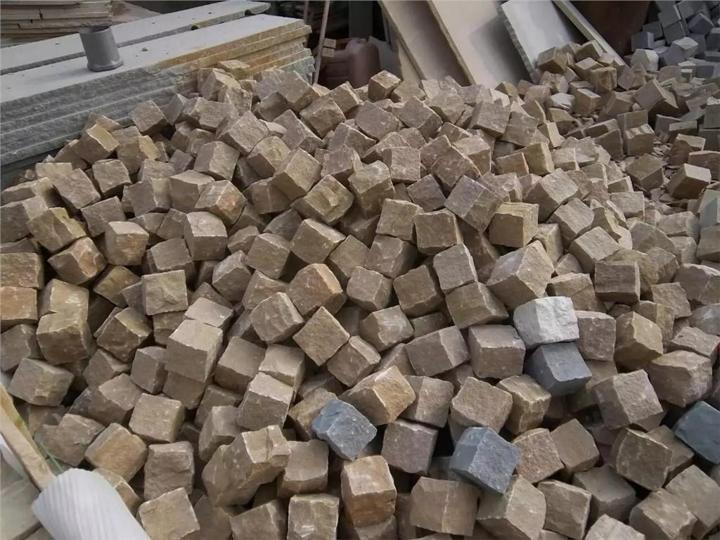 供应黄砂岩6面自然方块石