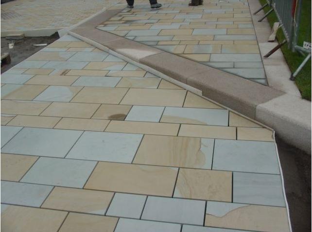 双色砂岩英国工程效果图