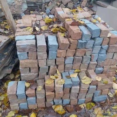 供应各色砂岩小块石铺路石