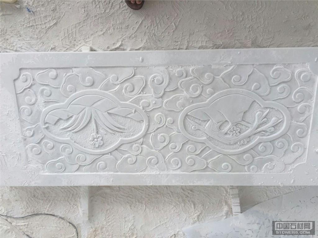 供应汉白玉浮雕板 异形 栏板