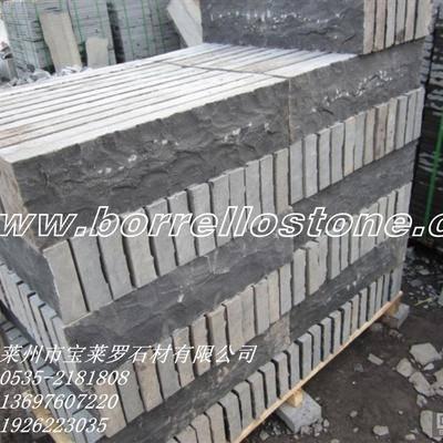 中国黑花岗岩蘑菇石 墙石