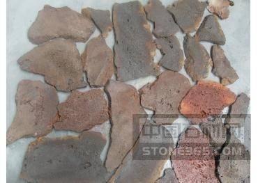 杂色两面切火山岩