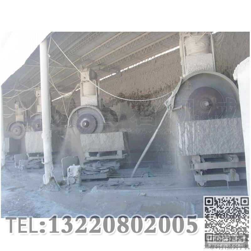 供应四柱液压组合锯多片锯石机