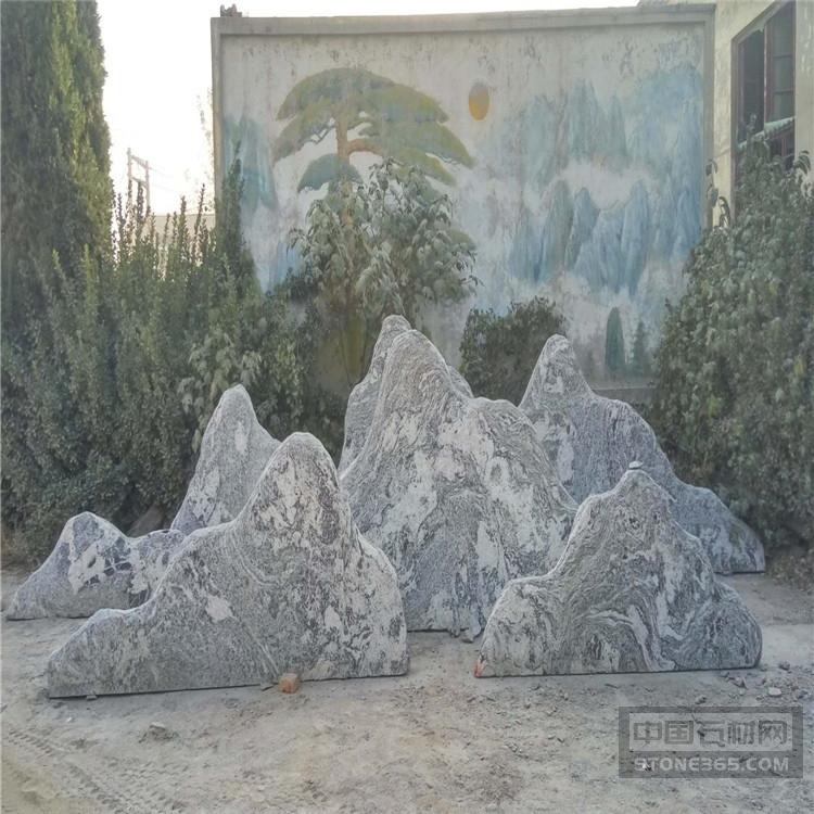 泰山石切片 雪浪石组景景观石供