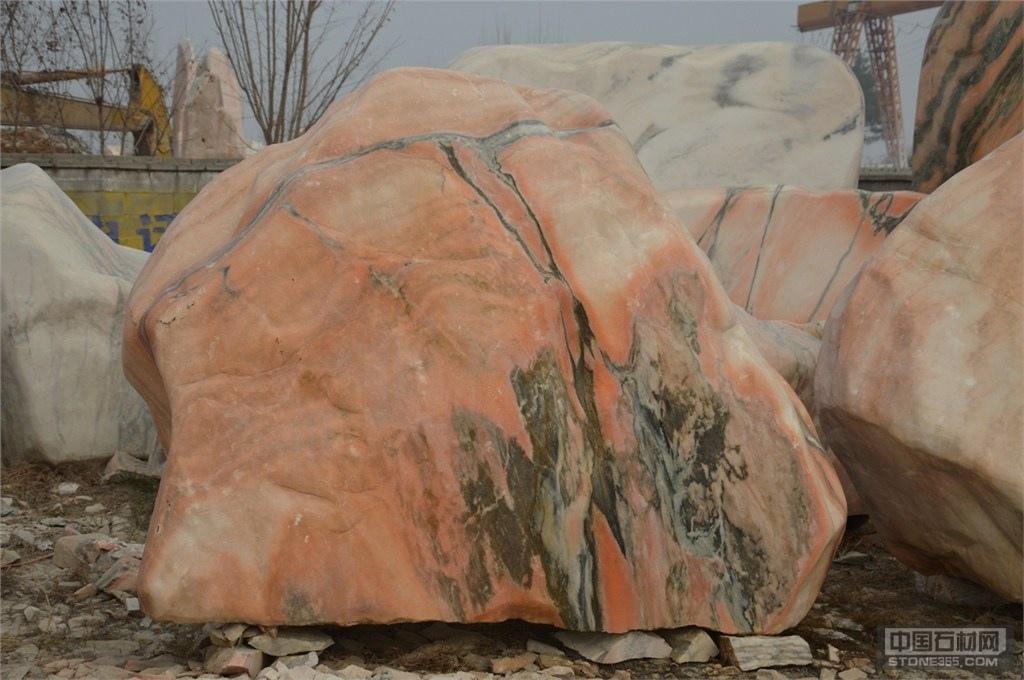 河南晚霞红景观石供应商