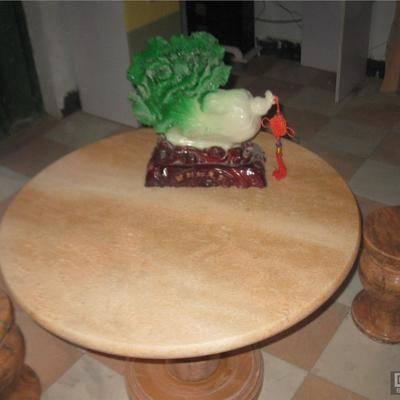 大理石餐桌圆桌花纹斑驳多彩