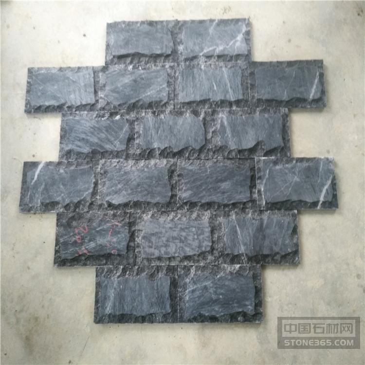 黑色板材蘑菇石 抛光面蘑菇砖