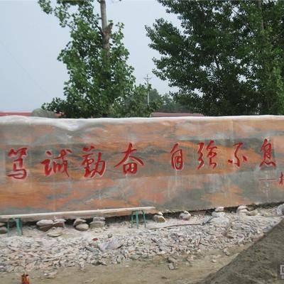 校园景观石标语