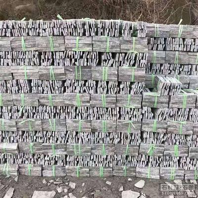 绿石英文化石拉槽蘑菇石槽石