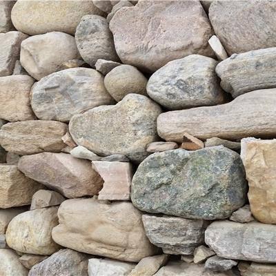 河卵石墙体