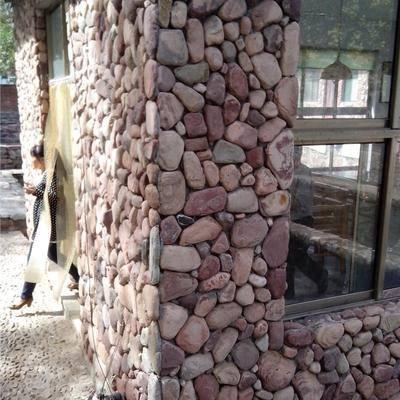 天然砂岩卵石贴片实例