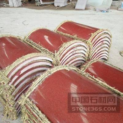 中國紅圓弧