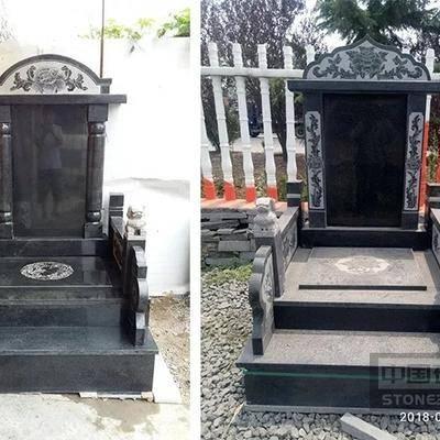 山东芝麻黑墓碑成品
