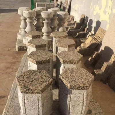 石材圆件制品展示