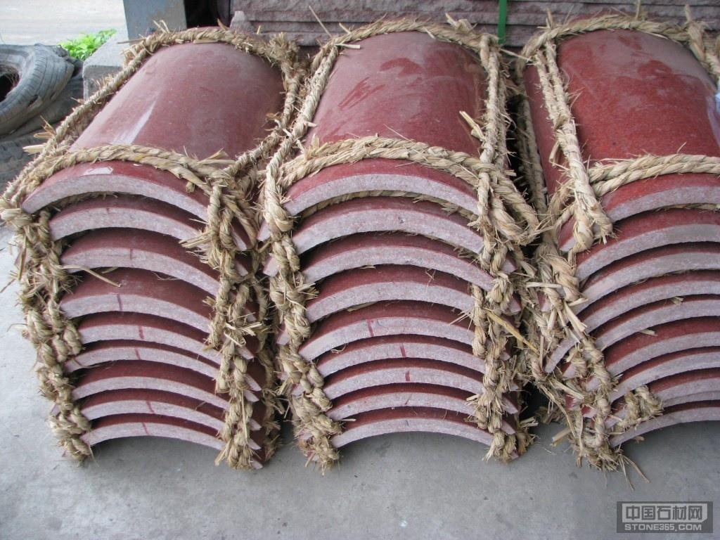 中国红圆弧板