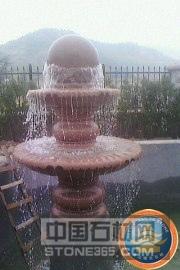 崂山红花岗岩风水球喷泉