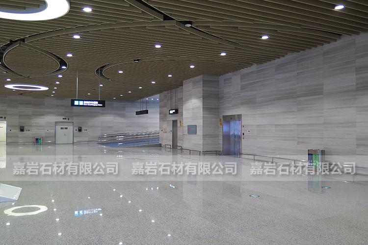 厦门高崎机场T4航站楼白木纹工程