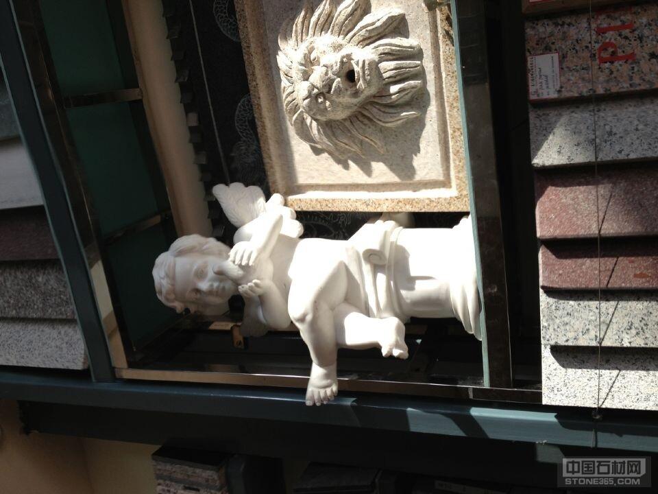 汉白玉天使石雕