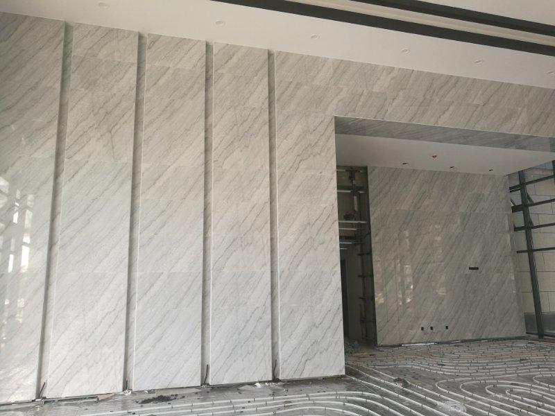 广西白大理石墙面定制工程板