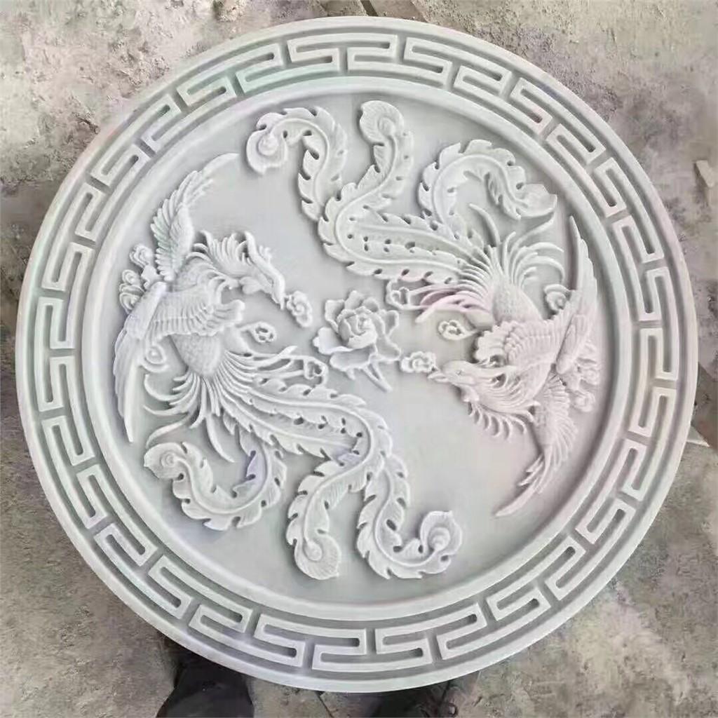广西白大理石浮雕 大理石雕刻工