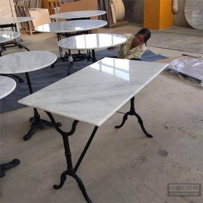 广西白大理石餐桌台面
