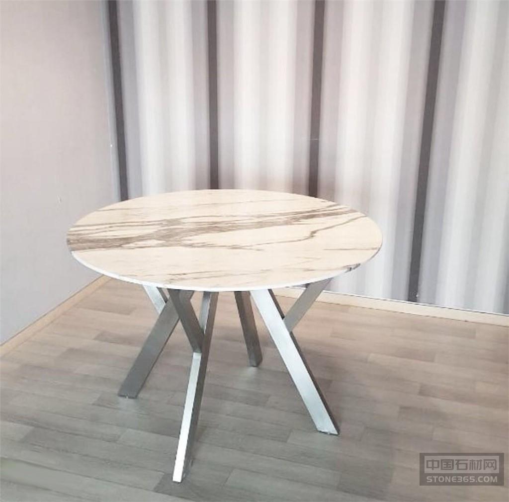 白色大理石餐桌定制