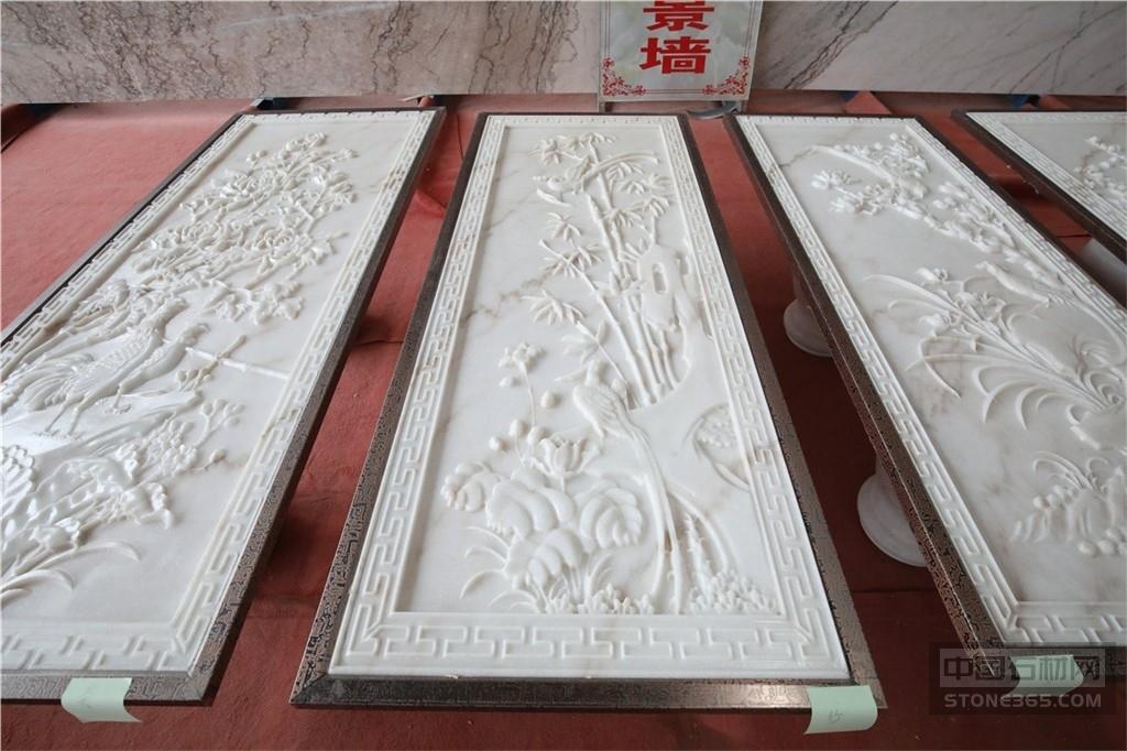 广西白石材雕刻工艺品