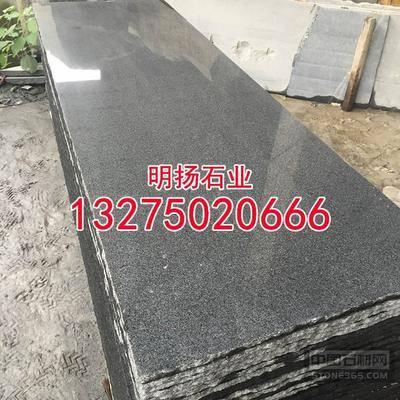 芝麻黑抛光面板材黑色麻石加工厂