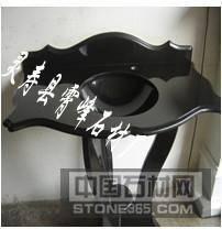 中国黑花岗岩大理石石桌石凳
