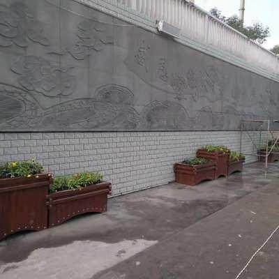 灰绿雕刻上墙